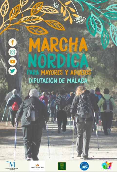 Cartel marcha noordica vertical