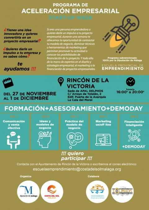 Start-Up Week en Rincón de la Victoria