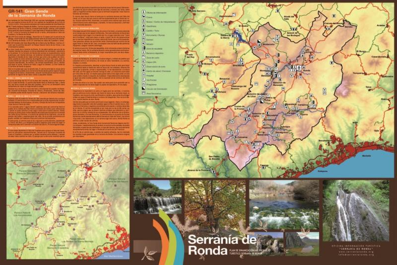Imagen de Map of the Serranía de Ronda. SideB (in English). Updated