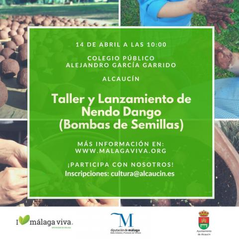 Cartel Nendo Dango. Alcaucín 14 abril 2018