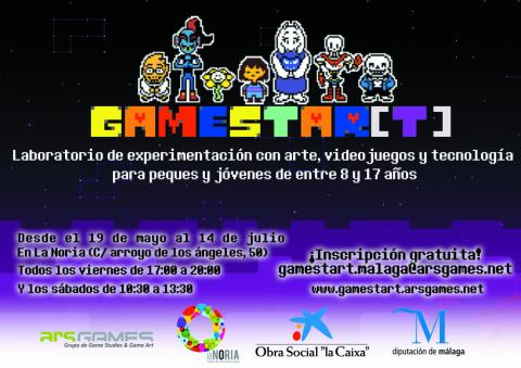 Cartel gamestart 2017 con inscripciones