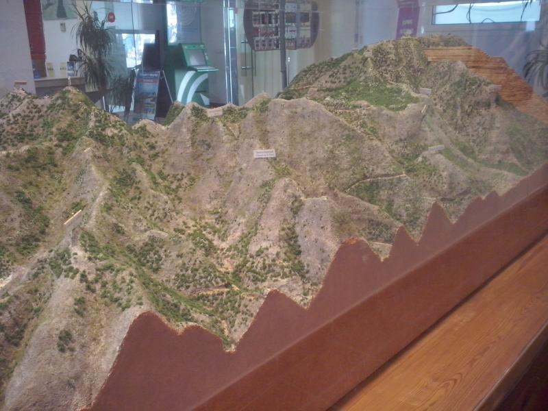 Mijas Mountain Scale Model - North face
