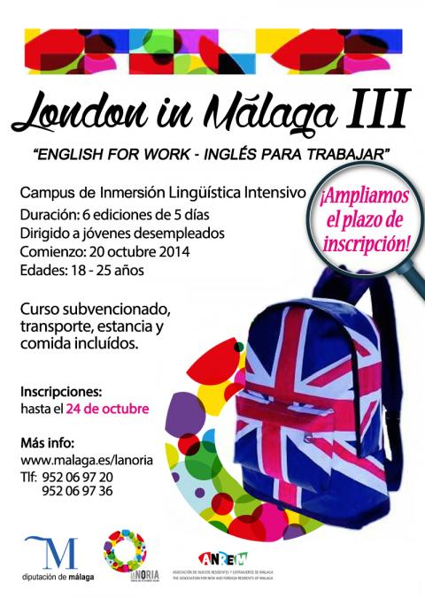 London in malagaIII- ampliacion inscripcion