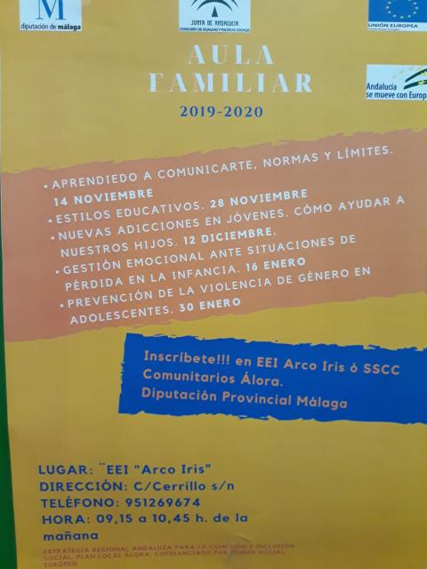 Cartel aula familiar