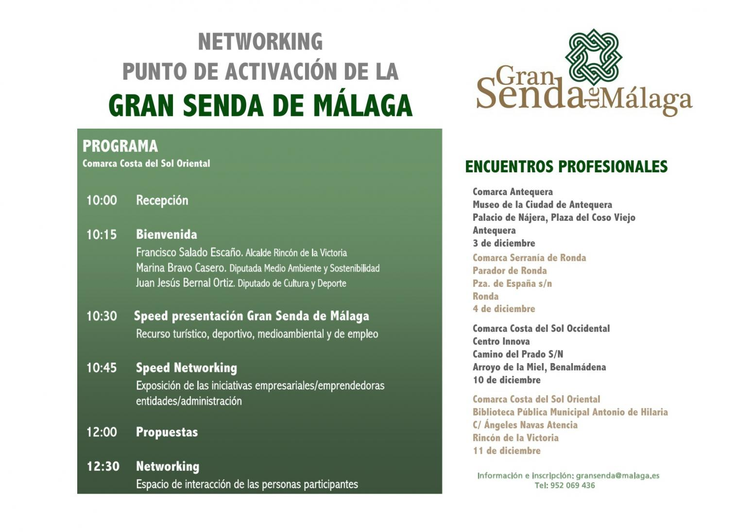 Imagen de Programa Networking Gran Senda de Málaga. Costa del Sol Occidental