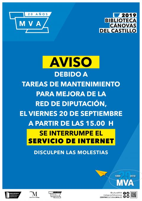 Interrupción internet