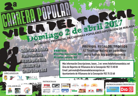 Cartel - 2º Carrera Popular VILLA DEL TORCAL 2017