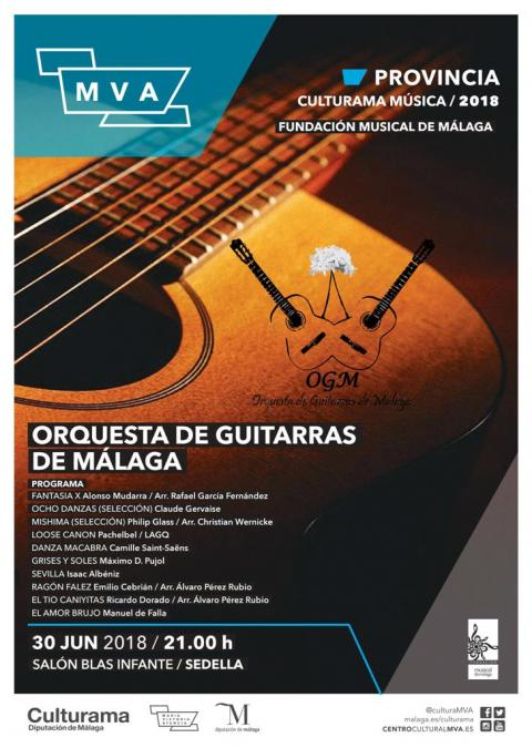 CARTEL ORQUESTA DE GUITARRAS DE MÁLAGA 30JUN SEDELLA
