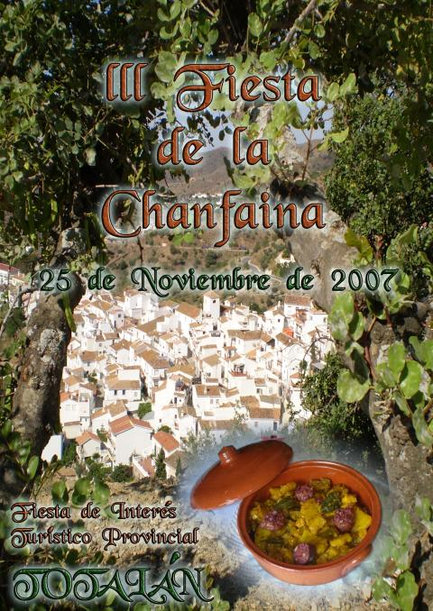 Chanfaina. Cartel Fiesta Singular 2007. Totalán