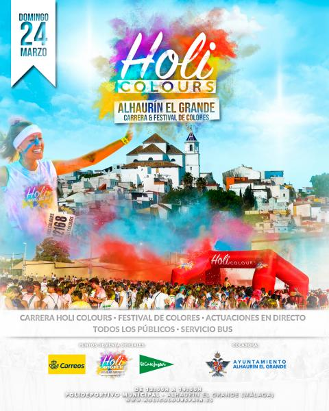 Cartel Carrera Holi Colours