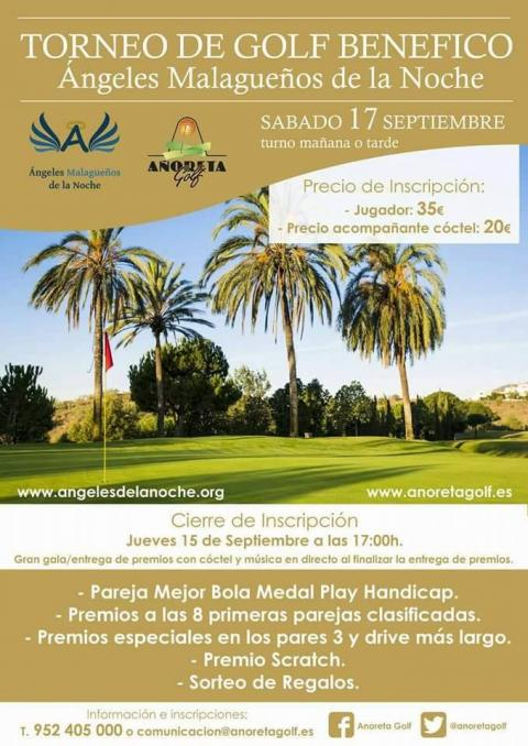 Cartel TRofeo Golf Angeles malagueños