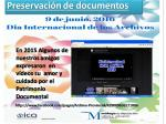 Preservación de documentos