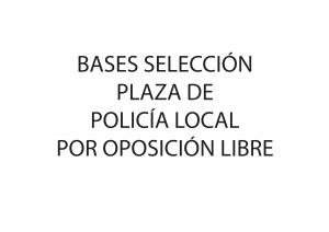 PLAZA POLICÍA LOCAL