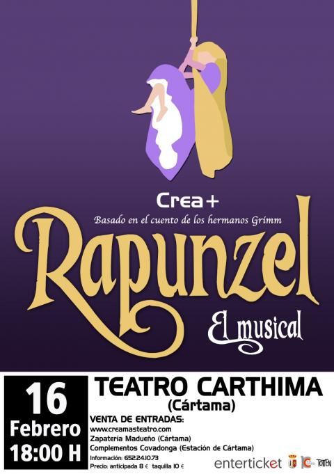Cartel musical Rapunzel 160219