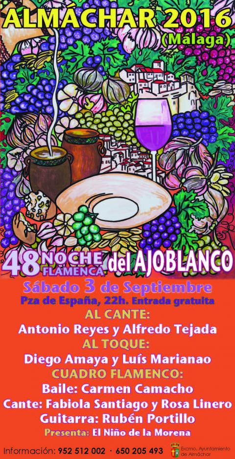Ajoblanco 2016 Cartel Flamenco