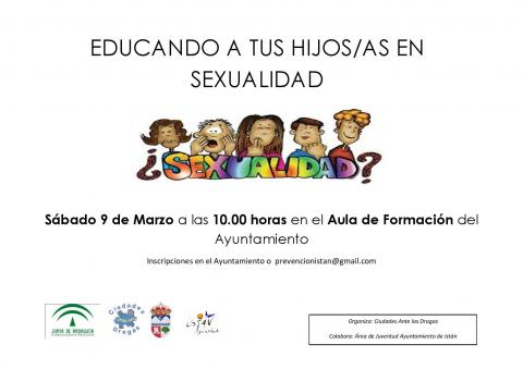 Cartel Charla Sexualidad Padres