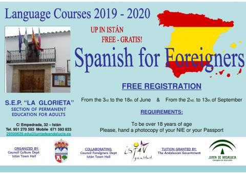 Spanish for Foreigners 2018/2019