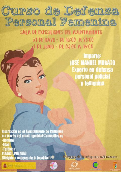 Cartel curso defensa personal femenina