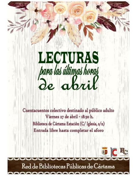 Cartel lecturas últimas horas de abril 270418