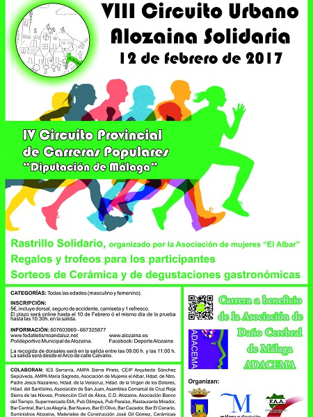 Carrera solidaria popular circuito 2017