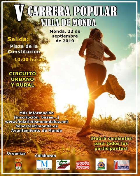 Cartel carrera popular villa de Monda 2019