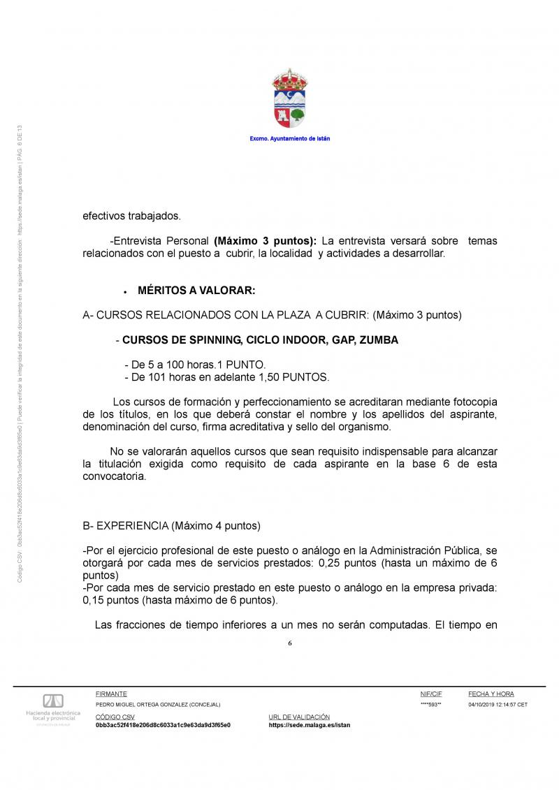 Imagen de General basis of the call for temporary hiring of a sports monitor / monitor for the execution of sports activities