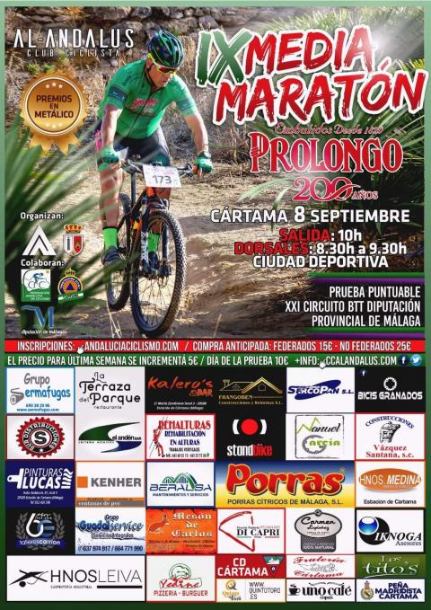 Cartel Media Maratón Ciclista 080919