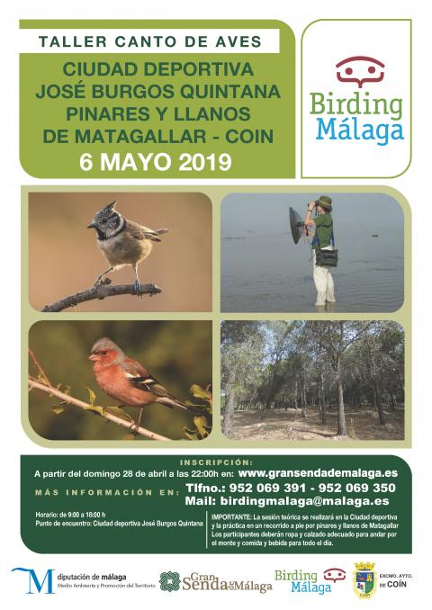 Imagen. Cartel Canto Aves. Coín Mayo 2019